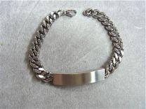 Armband met graveerplaat . 21 cm.