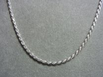 Koord collier geslepen model 2,2 mm 45 cm.