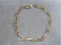 Gouden Closed forever schakelarmband tussenoog 19 cm 6 gram