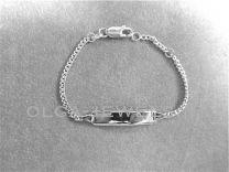 Plaat armbandje gourmet schakel 12 tot 14 cm zilver