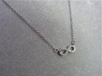 Zilveren kettinkje met infinity teken met zirkonia.