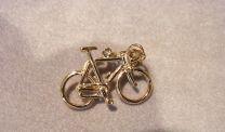 Wielrenners fiets Goud