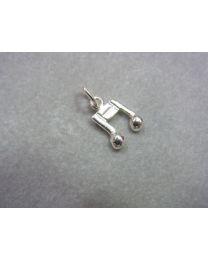 Muzieknootje zilver klein model