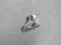 Kunstschaats zilveren hanger