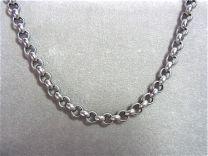 Stalen jasseron collier 9 mm, 50 cm.