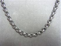 Stalen jasseron collier 9 mm, 45 cm.