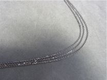 3 kettinkjes collier. 42 cm.