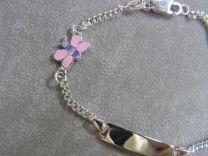 Plaat armbandje met Libelle 13 tot 15 cm