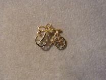 Wielrenners fiets klein goud