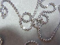 Geslepen bolletjes collier 90 cm 2,2 mm