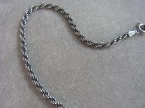 Donker zilveren koord collier 50 cm, 2,5 mm