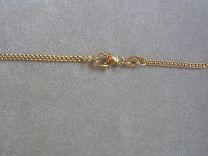 9 karaat gourmette collier 1,8 mm 45 cm