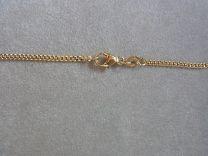 9 karaat gourmette collier, 2,2 mm 60 cm.