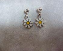 Zilveren oorknopjes met edelweiss