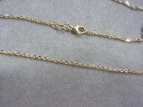 Doublé collier model anker schakeltje 80 cm.