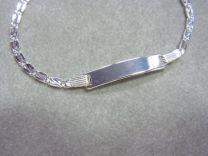 Plaat armbandje zilver 13 tot 15 cm. Model 3