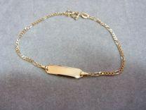 9 karaat naam armband model figaro 16 tot 18 cm