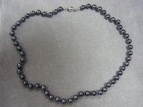 Parel collier van zwarte parels