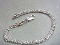 Vossenstaart armband 3 mm 19 cm met standaard sluiting.