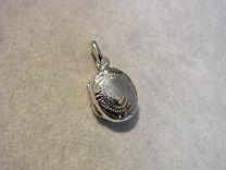 Ovaal zilveren medaillon klein bewerkt model