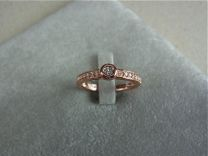 Zilveren Ring met zirkonia roze verguld