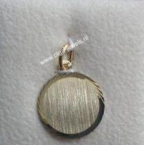 Graveerplaatje 18 mm rond model 1, goud.