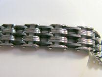 Stalen armband met zwart