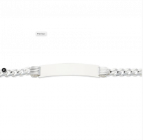 Plaatarmband, graveerarmband zilver 6 mm 20 cm.