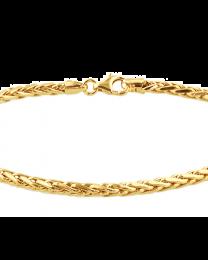 Vossestaart gouden armband