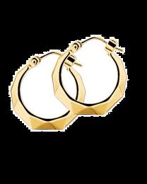 Gouden creolen oorringen lapide geslepen 16 mm.