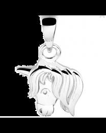 Paardje hoofdje, zilveren hangertje