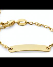 9 krt kinder graveer armbandje met open schakeltje