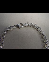 Zilveren jasseron collier Cartier sluiting 7 mm 45 cm.