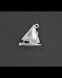Zilveren zeilboot hanger