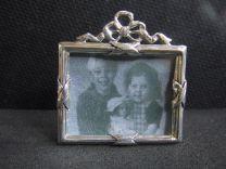 Zilveren fotolijstje Klassiek met strikje 4x3