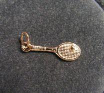 Tennisracket met bal Goud