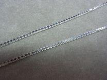 60 cm 2,5 mm zilveren ketting venetiaanse schakel.