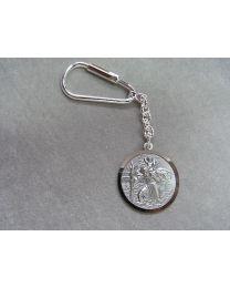 Christoffel sleutelhanger 30 mm van ALPACA