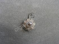 Zeeuwse knop hanger 13 mm wit zilver