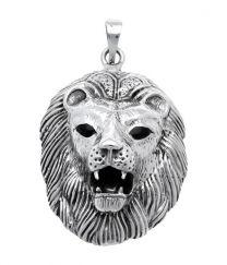 Leeuw grote zilveren hanger.