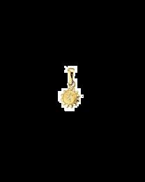 Zon gouden bedel 11 mm